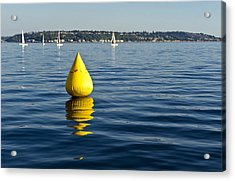 Race Pylon Bouy Acrylic Print by Tom Dowd