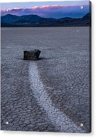 Race Treak Playa Acrylic Print by Peter McCracken