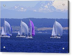 Race Week 2006 Bo1091 Acrylic Print by Mary Gaines