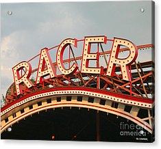 Racer Coaster Kennywood Park Acrylic Print