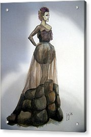 Rachel Mcadams - Vogue Acrylic Print by Jennifer Zhao