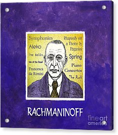 Rachmaninoff Acrylic Print by Paul Helm