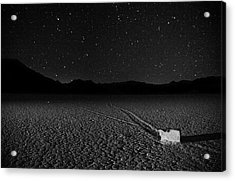 Acrylic Print featuring the photograph Racing Across The Playa At Night by Peter Thoeny