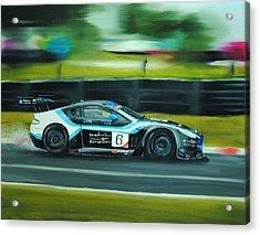 Racing Car Acrylic Print by Nolan Clark