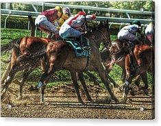 Racing Acrylic Print