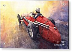 Racing Light Maserati 250 F Acrylic Print by Yuriy  Shevchuk