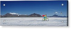 Racing On The Bonneville Salt Flats Acrylic Print