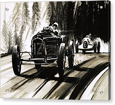 Racing On The Nurburgring Acrylic Print by English School