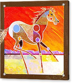 Acrylic Print featuring the painting Racing The Desert by Bob Coonts