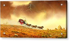 Racing The Storm Acrylic Print by Don Griffiths