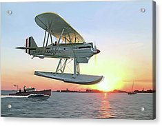 Racing The Sun Acrylic Print