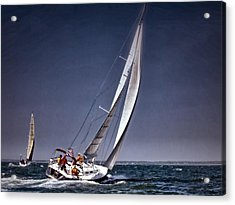 Racing To Nantucket Acrylic Print