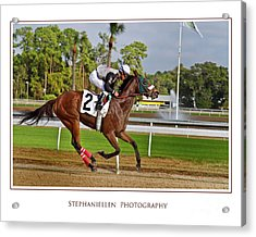 Racing To The Finish Acrylic Print