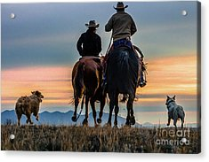 Racing To The Sun Wild West Photography Art By Kaylyn Franks Acrylic Print