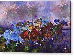 Racing With Ghosts Acrylic Print by Betsy Knapp