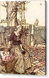 Rackham Arthur Mother Goose Bye Baby Bunting Acrylic Print by Arthur Rackham