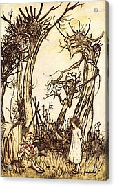 Rackham Arthur Mother Goose Man In The Wilderness Acrylic Print by Arthur Rackham