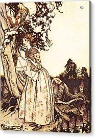 Rackham Arthur Mother Goose The Fair Maid Who The First Of Spring Acrylic Print by Arthur Rackham