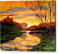 Raders Pond Day Break Sold Acrylic Print by Charlie Spear