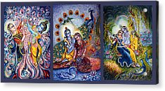 Radha Krishna Cosmic Leela Acrylic Print