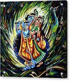 Acrylic Print featuring the painting Radhe Krishna by Harsh Malik