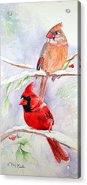 Radiance Of Cardinals Acrylic Print