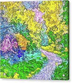 Radiant Garden Pathway - Trail Through Santa Monica Mountains Acrylic Print