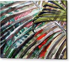 Radiant Palms Acrylic Print by Mindy Newman