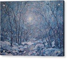 Radiant Snow Scene Acrylic Print