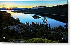 Radiant Sunrise On Emerald Bay Acrylic Print