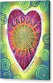 Radiate Love Acrylic Print