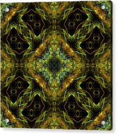 Radiation Of Medusa's Galaxy Mandala 12 Acrylic Print
