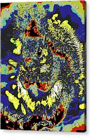 Radical Rodent Acrylic Print by DigiArt Diaries by Vicky B Fuller