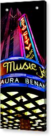 Radio City Music Hall Acrylic Print by Az Jackson