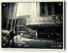 Radio City Music Hall Manhattan New York City Acrylic Print by Sabine Jacobs