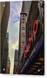 Radio City Ny Acrylic Print by Chuck Kuhn