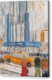 Radio City Ny Acrylic Print