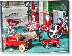 Radio Flyer Acrylic Print by David Bearden