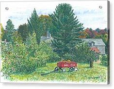 Radio Flyer Shelburne Farm Acrylic Print