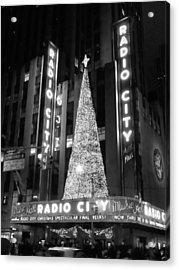Radio Glow Black And White Acrylic Print by Francis Flatley