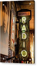Radio Nashville Sign Acrylic Print by Stephen Stookey
