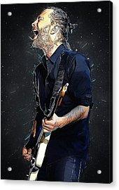 Radiohead - Thom Yorke Acrylic Print by Semih Yurdabak