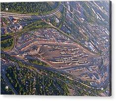 Radnor Rail Yard - 1 Acrylic Print by Randy Muir