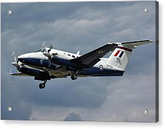 Acrylic Print featuring the photograph Raf Beech King Air 200  by Tim Beach