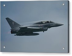Acrylic Print featuring the photograph Raf Eurofighter Typhoon T1  by Tim Beach