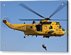 Raf Sea King Search And Rescue Helicopter 2 Acrylic Print
