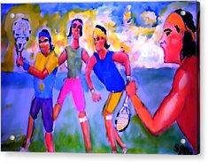 Rafa Tennis At The French Wimbleton And U.s. Open Acrylic Print