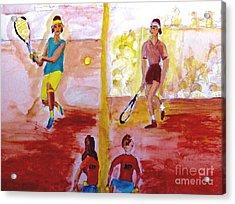 Rafa Versus Federer Acrylic Print
