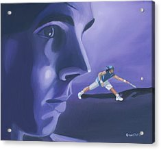 Acrylic Print featuring the painting Rafael Nadal by Quwatha Valentine