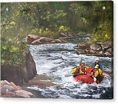Rafting In Colorado Acrylic Print